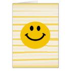 Smiley auf sonnigen gelben Streifen Karte