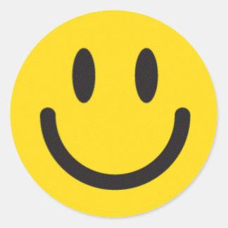 Smiley-Aufkleber Runder Aufkleber