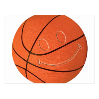 SMILEY-BASKETBALL POSTKARTE