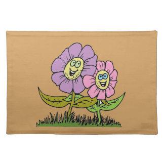Smiley-Blumen Tischset