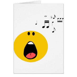 Smiley, der heraus sein wenig Herz singt Karte