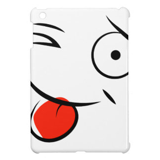 Smiley, der heraus Zunge haftet. Himbeergesicht iPad Mini Hülle
