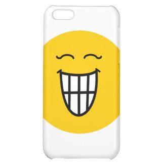 Smiley der mit toothy Lächeln lacht