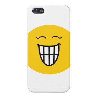 Smiley, der mit toothy Lächeln lacht iPhone 5 Etuis