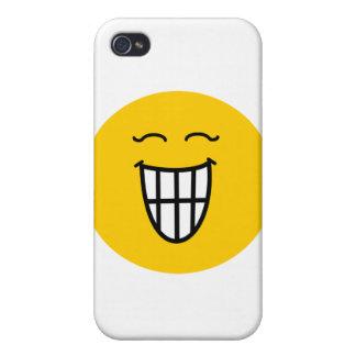 Smiley, der mit toothy Lächeln lacht iPhone 4/4S Hülle
