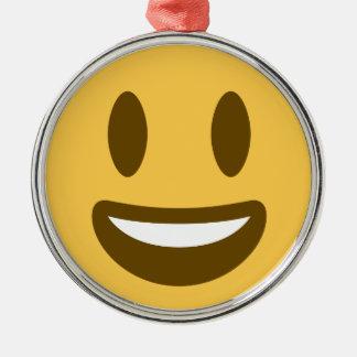 Smiley Emoji Twitter Silbernes Ornament