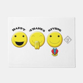 """Smiley-Erntedank 18"""" x 24"""" Tür-Matte Türmatte"""