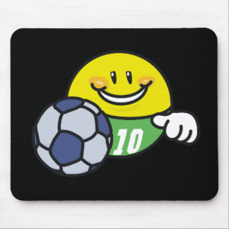 Smiley-Fußball-T-Shirts und Geschenke Mauspad