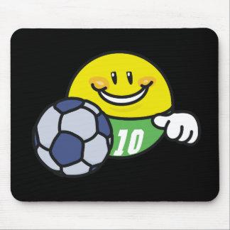 Smiley-Fußball-T-Shirts und Geschenke Mousepads