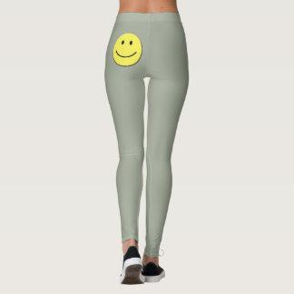 Smiley-Gamaschen Leggings