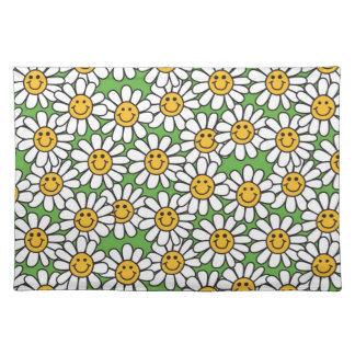 Smiley-Gänseblümchen-Blumen-Muster Tischset
