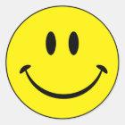 Smiley-Glück-Gesicht Runder Aufkleber