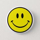 Smiley-Glück-Gesicht Runder Button 5,7 Cm