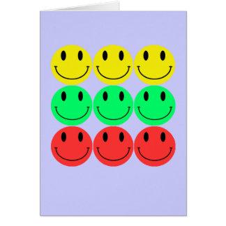 Smiley-Gruß-Karte Grußkarte