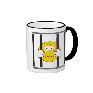 Smiley im Gefängnis Ringer Tasse