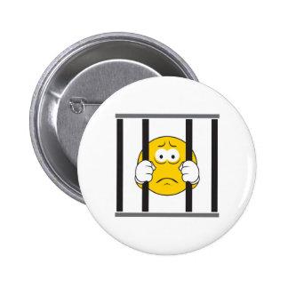 Smiley im Gefängnis Runder Button 5,7 Cm