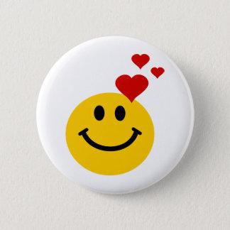 Smiley in der Liebe Runder Button 5,7 Cm