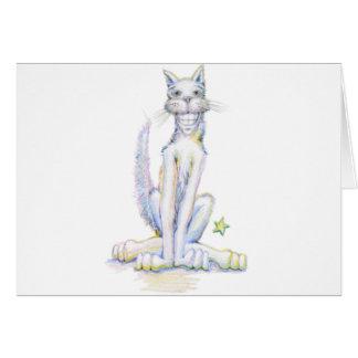 Smiley-Katze Karte