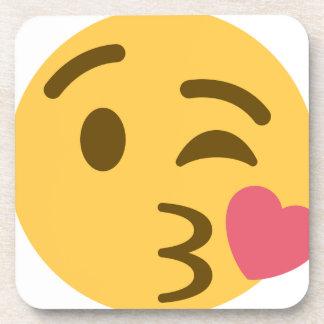 Smiley Kiss Emoji Untersetzer