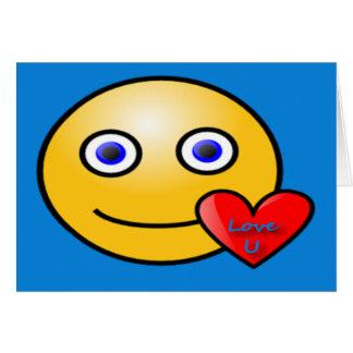 Smiley-Liebe Karte