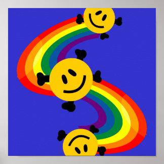 smiley mit den Querknochen Poster