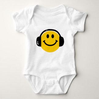 Smiley mit Kopfhörern Baby Strampler