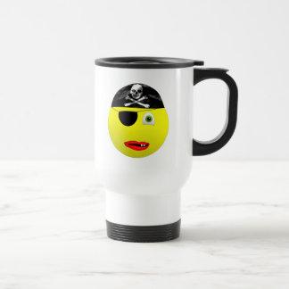 Smiley-Pirat 15-Unze-rostfreier Stahl-Reise-Tasse Reisebecher