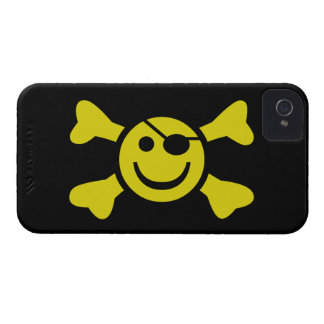 Smiley-Piratenflagge iPhone 4 Case-Mate Hülle