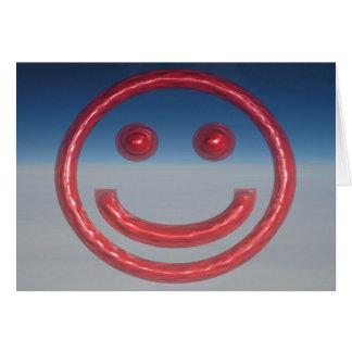Smiley - Pop-mit Augen rosa smiley Karte