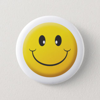 Smiley Runder Button 5,1 Cm