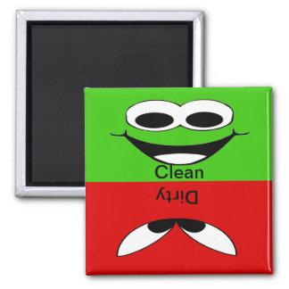 Smiley sauber und schmutzig quadratischer magnet