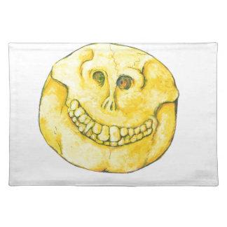 Smiley-Schädel Tischset