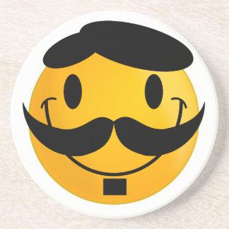 Smiley-Schnurrbart Untersetzer
