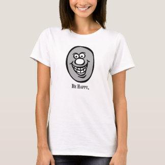 Smiley (seien Sie glücklich), *Gray T-Shirt