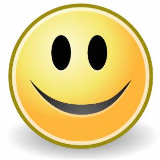 Smiley-Tischplattenskulptur (acrylsauer) Foto Figur