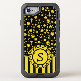 Smiley-Tupfen-Monogramm OtterBox Defender iPhone 8/7 Hülle