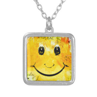Smiley Versilberte Kette