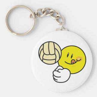 Smiley-Volleyball Standard Runder Schlüsselanhänger