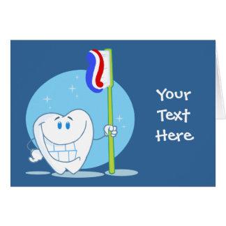 Smiley-Zahn (kundengerecht) Grußkarte