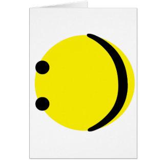 Smileygefühl Karte