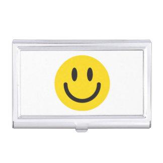 Smileygeschäfts-Kartenhalter Visitenkarten Dose