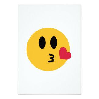 Smileyherzkuß 8,9 X 12,7 Cm Einladungskarte