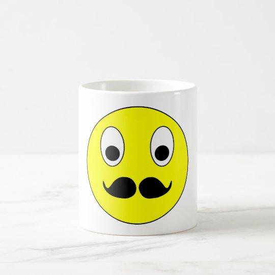 Smilie Schnurrbart smiley moustache mustache Kaffeetasse