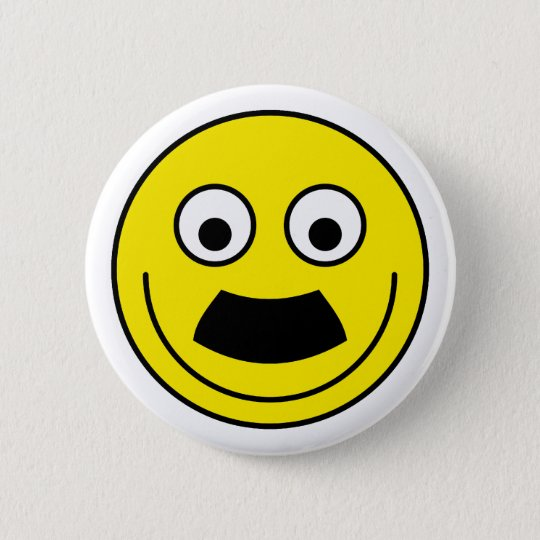 Smilie Schnurrbart smiley moustache Runder Button 5,1 Cm