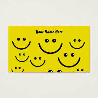 Smilie stellen Hintergrund, Ihren Namen hier Visitenkarte