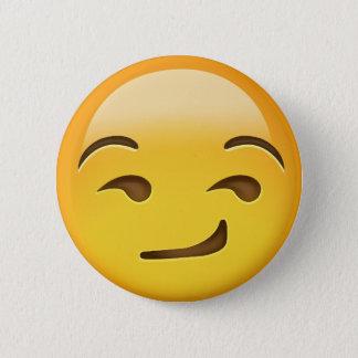 Smirking Gesicht Emoji Runder Button 5,1 Cm