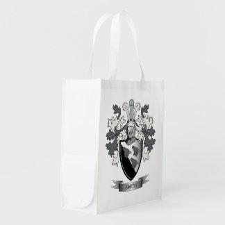 Smith-Familienwappen-Wappen Wiederverwendbare Einkaufstasche