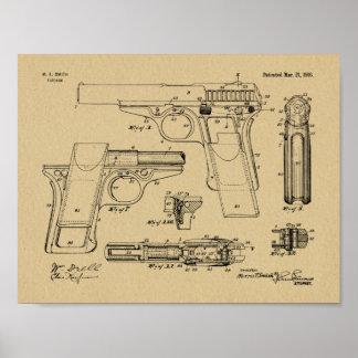 Smith-Gewehr-Patent-Kunst 1916, die Druck zeichnet Poster