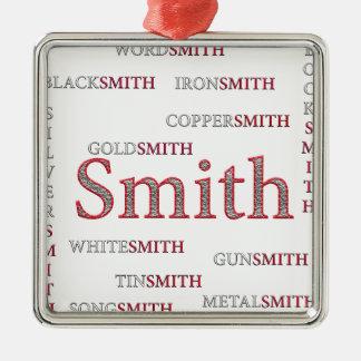 SMITH-MARKE QUADRATISCHES SILBERFARBENES ORNAMENT
