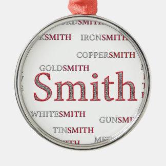 SMITH-MARKE RUNDES SILBERFARBENES ORNAMENT